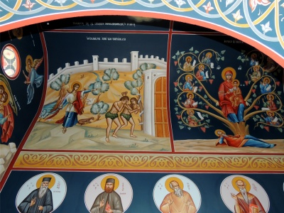 Depictions in Pronaos of the holy Temple