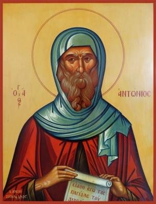 St. Antonios _egg tempera-