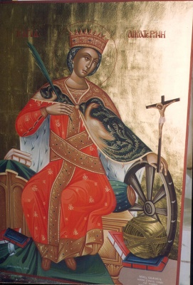 St Ekaerina -egg tempera-