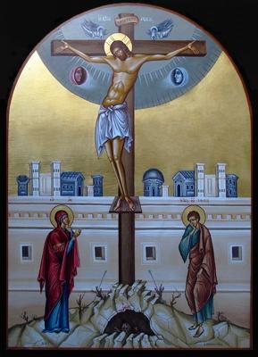 Crucifixion -egg tempera-