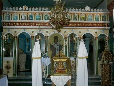 Reconstruction of plaster iconostasis St Pantes