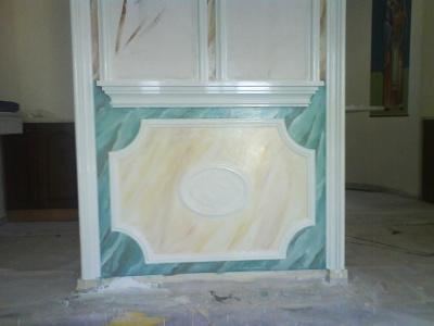 Decoration of plaster iconostasis St. Trias Mesogea