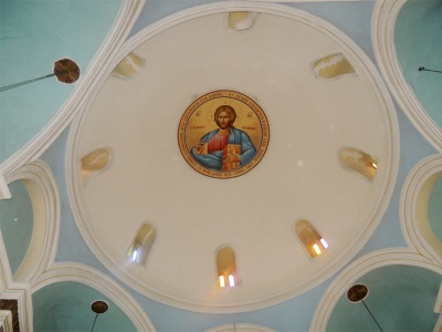 Pantocrator placed in the dome
