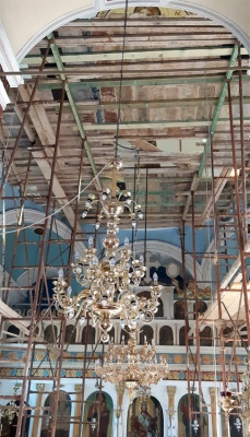Scaffolding for the dome