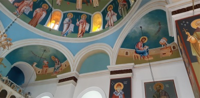 Part of the dome and Evangelists