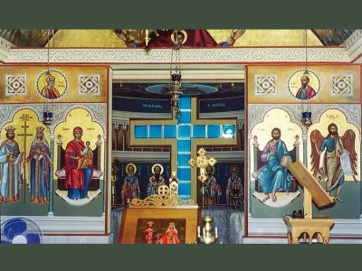 Iconostasis of the holy temple