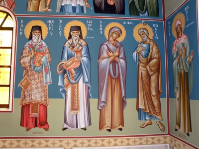 Τοιχογραφίες του ιερού ναού
