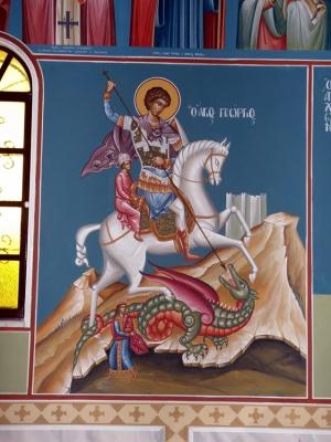Τοιχογραφία άγιος Γεώργιος