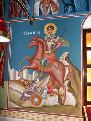 Τοιχογραφία άγιος Δημήτριος